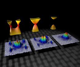 merging Dirac points with ultracold fermions in honeycomb optical lattices