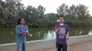 Petanque juggling